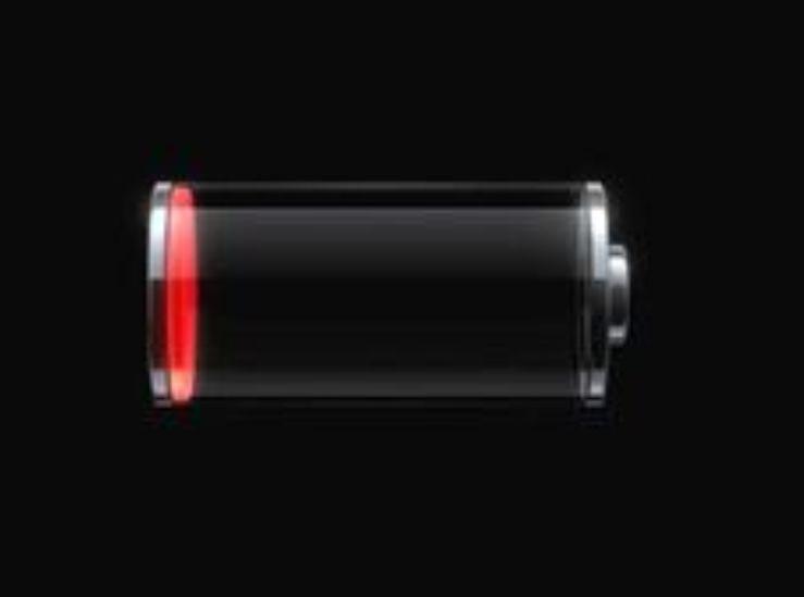 باتری در حال اتمام